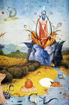 Triptych of Garden of Earthly Delights (detail) by Hieronymus Bosch on artlover. Renaissance Kunst, Renaissance Paintings, Prado, Jan Van Eyck, Hieronymus Bosch Paintings, Arte Tribal, Garden Of Earthly Delights, Dutch Painters, Visionary Art