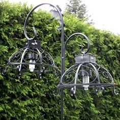 Dollar Store Solar Lights Turned into Outdoor Hanging Lamps.
