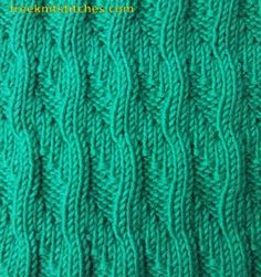 Sea surf knitting stitch. I love what knit and purl stitches can create.