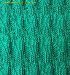 Knitting Stitch Patterns -- Knit & Purl Stitches-- Sea surf