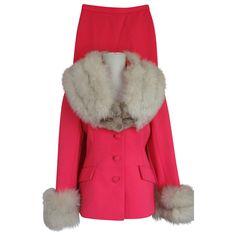 1960s Lilli Ann Pink Fox Fur Suit  http://www.rubylane.com/item/615897-6534/1960s-Lilli-Ann-Pink-Fox78  $700.00 or Best Offer.