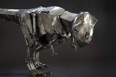 65 Scrap Metal Sculptures - From Jet-Transforming Robots to Upcycled Jurassic Creatures