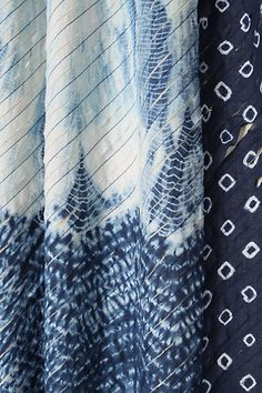 spliced shibori curtain