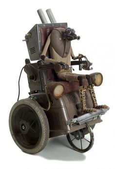 Steampunk sculpture by Belgian artist Stephane Halleux