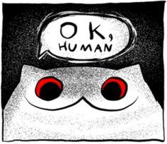 Drama Meawbin by Cotton Valent Cat Comics, Funny Comics, Creepy Cat, Anime Monsters, Funny Horror, Telegram Stickers, Short Comics, Quality Memes, Cute Little Things