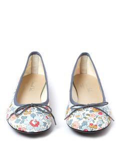 French Sole Grey Classic Betsy Print Ballet Flats | Womenswear | Liberty.co.uk