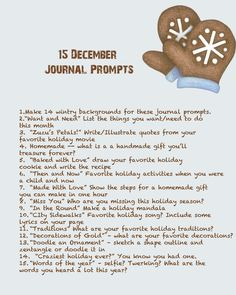 Quinceberry: December Journal Prompts (Only month provided)