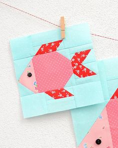 Fish Quilt Pattern, Butterfly Quilt Pattern, Boys Quilt Patterns, Paper Piecing Patterns, Pattern Blocks, Pattern Sewing, Quilting Projects, Sewing Projects, Quilting Ideas