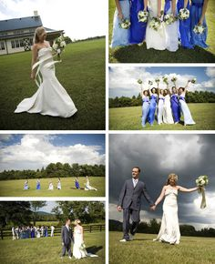 periwinkle white and green wedding - Google Search