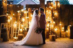 Burgundy & Blush Christmas Wedding At Owen House Wedding Barn Rustic Wedding Venues, Outdoor Wedding Decorations, Rustic Wedding Centerpieces, Farm Wedding, Rustic Weddings, Rustic Wedding Inspiration, Wedding Ideas, Christmas Wedding, Red Christmas