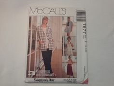 7577 McCall's Misses Unlined Jacket by MammieandPappysPlace
