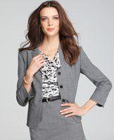 Tropical Wool 3/4 Sleeve Jacket