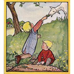 van NELLE HOLLAND ZOMERLAND 1925 Illustrated Children's Book