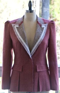 Trendy ideas for sewing clothes jackets link Sew Your Own Clothes, Sewing Clothes, Diy Clothes, Diy Fashion No Sew, Fashion Sewing, Fashion Blogs, Couture Sewing Techniques, Herringbone Blazer, Tailoring Techniques