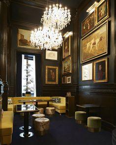 Bar at the Palazzo Dama in Rome. Speakeasy Decor, Palazzo, Retro Cafe, Hotel Decor, Bar Lounge, Commercial Interiors, Commercial Design, Restaurant Design, Vintage Restaurant