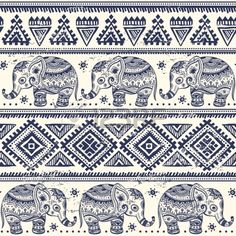 Ethnic Elephant Seamless Pattern Royalty Free Cliparts, Vectors, And Stock Illustration. Image 24125643.