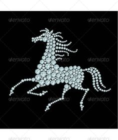 Running Horse Diamond Composition