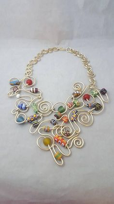 Krobo Beads Necklace Afrocentric Necklace Necklace and