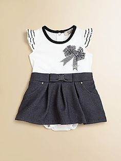 Armani Junior Infant's Knit and Denim Dress