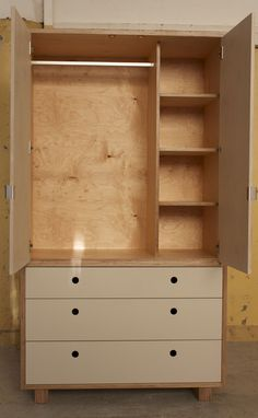 Freestanding Wardrobe | Plywood Furniture | Make Furniture