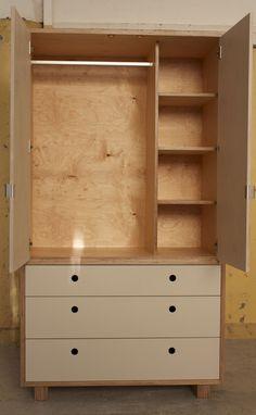 Freestanding Wardrobe   Plywood Furniture   Make Furniture