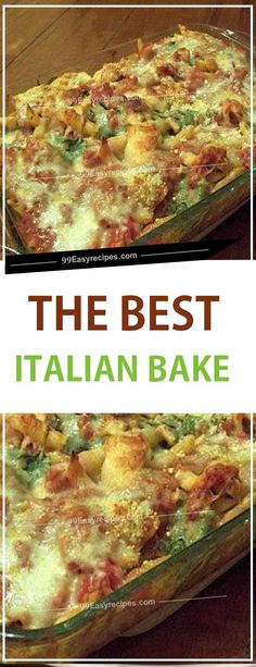 ITALIAN BAKE - - Love Italian flavors and gobs of cheese? This Italian casserole makes a great weeknight family meal. The young kiddos will love this because it's not overly spicy and has all the. Hamburger Meat Recipes, Crockpot Recipes, Healthy Recipes, Crockpot Meat, Soup Recipes, Meat Recipes For Dinner, Great Recipes, Easy Recipes, Italian Casserole