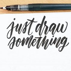Find images and videos about draw and typography on We Heart It - the app to get lost in what you love. Creative Lettering, Brush Lettering, Lettering Design, Calligraphy Letters, Typography Letters, Modern Calligraphy, Typography Inspiration, Graphic Design Inspiration, We Heart It