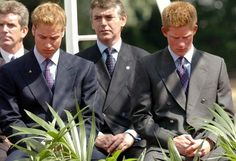 Prince William Prince Harry. Sad times... on the death of their mother, Diana.