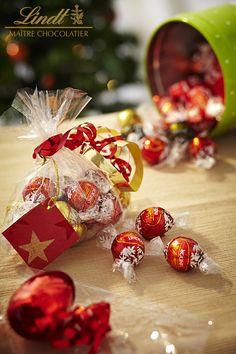 Calendrier de l'Avent Lindt *JOUR 15* Confectionnez un joli cadeau gourmand à offrir à vos invités, qui les fera fondre de bonheur !