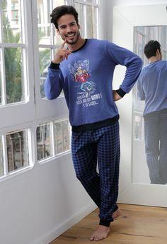 Pijama invierno hombre Massana modelo Mono, el pijama es  de punto y puño en pantalón y el suéter.