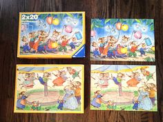 2 x 20 Pieces Ravensburger Puzzle Lantern Festival Carousel 1987 Mice Adorable | eBay