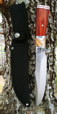 Gentleman's Choice Large Hunter Knife - Fixed blade utility knife for outdoor survival, hunting and camping activities