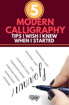 In this post, we are talking about the 5 modern calligraphy tips i wish i knew when i started. These are common mistakes modern calligraphy beginners tend to make, and it's important to learn the calligraphy basics the right way. Calligraphy Worksheet, Calligraphy Words, How To Write Calligraphy, Calligraphy Handwriting, Calligraphy Alphabet, Penmanship, Islamic Calligraphy, Creative Lettering, Brush Lettering