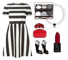 Designer Clothes, Shoes & Bags for Women Red Stripes, Alexander Mcqueen, Valentino, Black And White, Polyvore, Stuff To Buy, Shopping, Collection, Design
