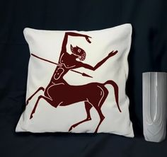 a man's throw pillow.