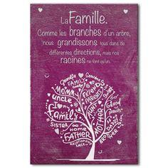 Tableau citation la famille                                                                                                                                                                                 Plus