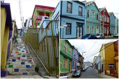 Casas de colores en la ciudad.