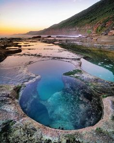 """Australia's Figure 8 Pools Will Have You Saying """"Dang, Mother Nature, Well Done"""" - Travel Trends Places Around The World, Travel Around The World, Around The Worlds, Visit Australia, Australia Travel, Sydney Australia, Australian Road Trip, Rock Pools, Beautiful Places To Travel"""