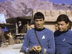 Leonard Nimoy and Deforest Kelley