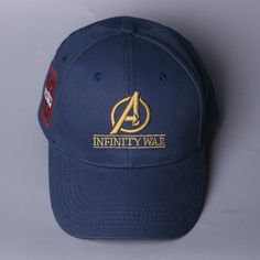 Inspired by Infinity War Crew Hat Equip Embroidered Infinity Gauntlet Cap  Marvel Avengers 69b29c49d8e1