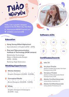 Graphic Resume, Graphic Design Resume, Graphic Design Posters, Resume Cv, Design Portfolio Layout, Portfolio Resume, Cv Inspiration, Graphic Design Inspiration, Mise En Page Portfolio