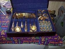 International Gold Electroplate Silverware Flatware Set of 70 Pieces - $65 Silverware Sets, Flatware Set, Gold, Cutlery Set, Yellow