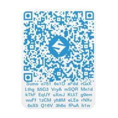 "SUMO QR-Code/Text Photo Magnet 3""x4"" - individual customized designs custom gift ideas diy"