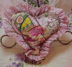 I ❤ crazy quilting & embroidery . . .  CQ Heart