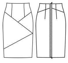 Burda 02-2012-121 (skirt with colour blocking panels and exposed zipper)