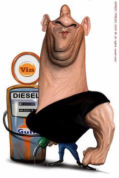 Caricature of Vin Diesel