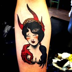 Your body is a temple, but how long can you live in the same house before you redecorate. Sailor Jerry, Bull Tattoos, Tatoos, Traditional Ink, Traditional Tattoos, Best Tattoo Ever, Tatuagem Old School, Classic Tattoo, Tattoo Designs