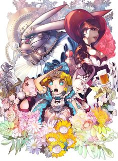 here we have a cute alice in wonderland anime wallpaper it was made by hodookoo mangaka , i hope you like a lot