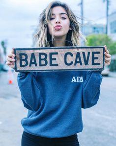 Vintage Babe Cave Sign by TSL | Sorority Signs | Room Decor | Alpha Gamma Delta More