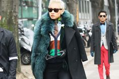 Green fur and an androgynous look.